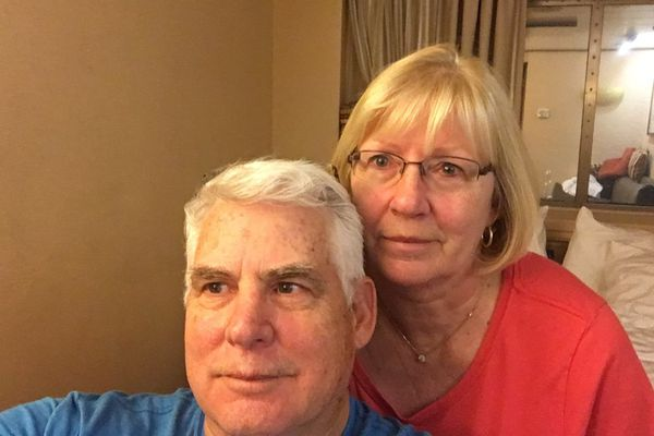 Chuck and Janice Black of Anchorage are quarantined to their rooms on the Rotterdam cruise ship as COVID-19 concerns spread. The couple was transferred off the Zaandam on Sunday, March 29, 2020. (Courtesy Chuck Black)