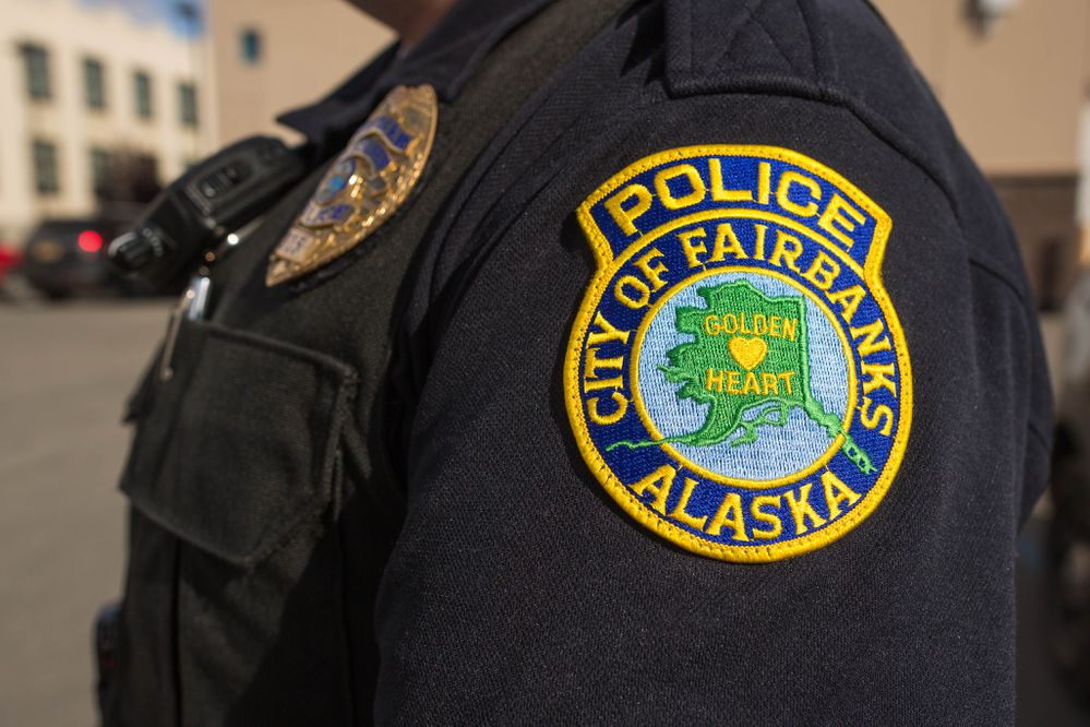 A City of Fairbanks police officer, photographed on September 9, 2015. (Loren Holmes / ADN)