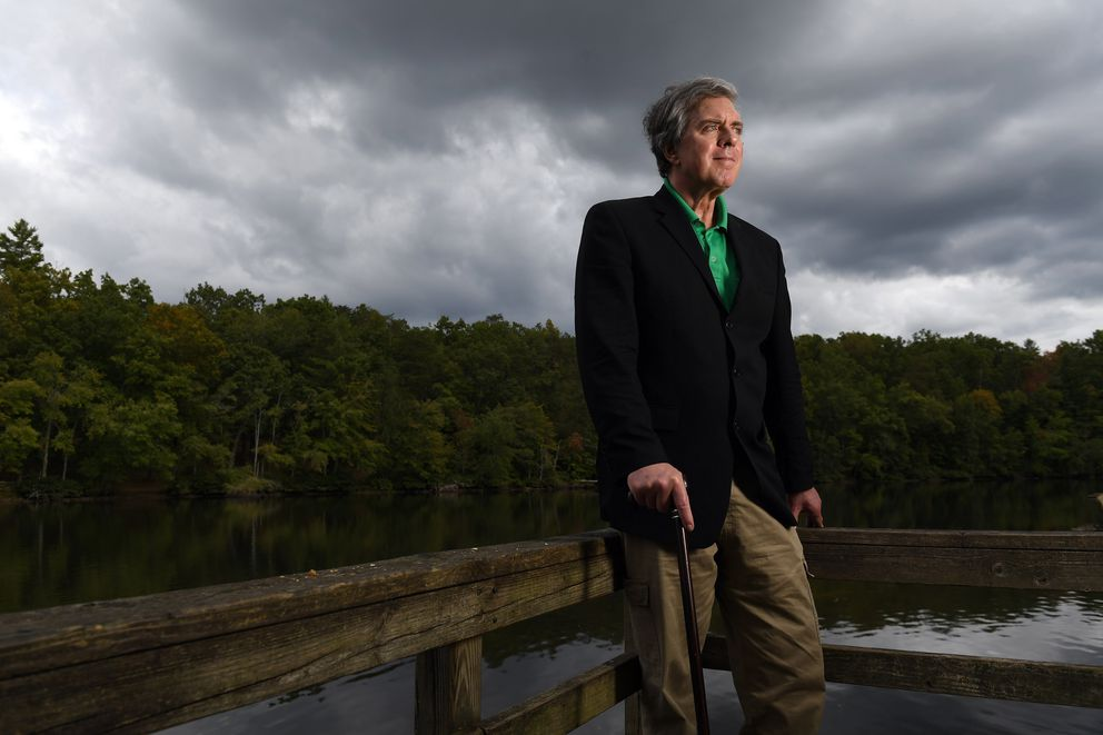 Don Black, the founder of Stormfront, one of the first White nationalist sites on the Internet, is pictured in Crossville, Tenn., in October 2016. 'Retreating into the anonymity and pseudonymity of the Net is not ideal for building a real movement, ' he said. (Washington Post photo by Matt McClain)