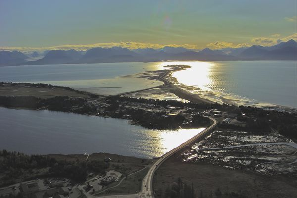 The view of Homer Spit and Kachemak Bay on a beautiful fall day. (Photo by Scott McMurren)