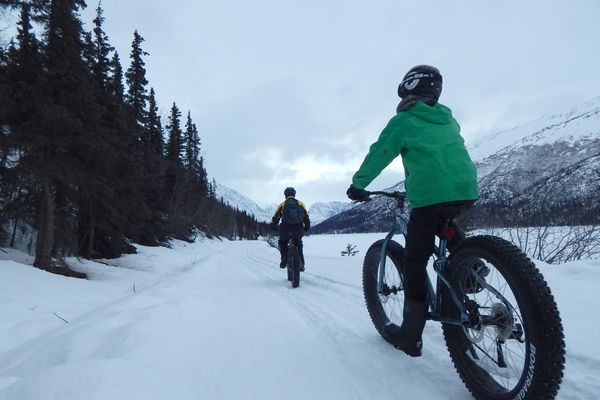 Fat-biking can be a sport for the whole family with a bit of research and planning ahead. (Erin Kirkland)
