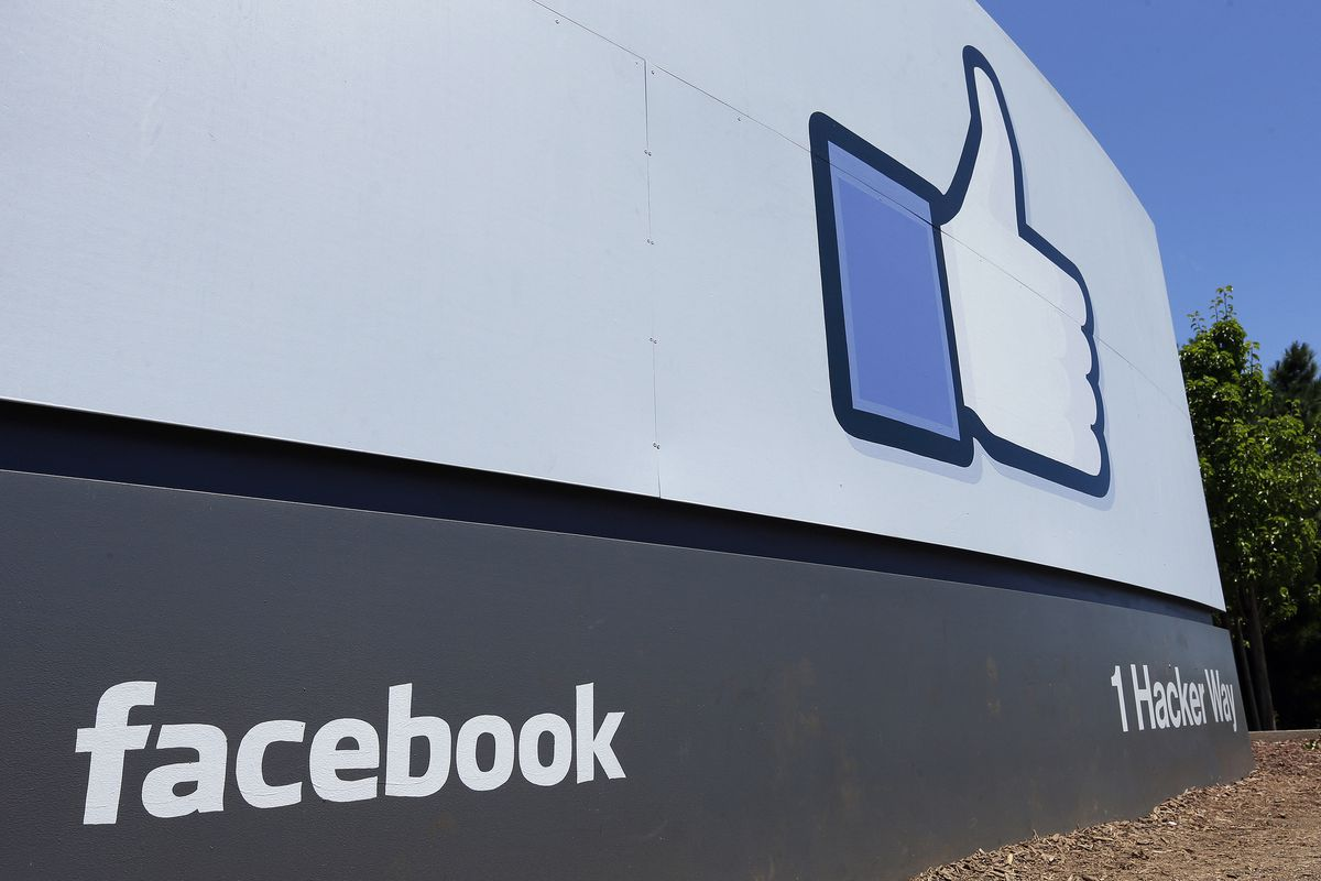 A sign at Facebook headquarters in Menlo Park, Calif.  (AP Photo/Ben Margot, File)