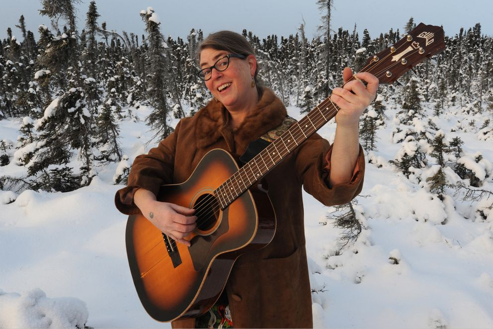 "Indie/folk artist Laura Oden of Anchorage just released her second CD entitled ""Peel Back Another Layer."" Portrait on Sunday, Jan. 8, 2017. (Bill Roth / Alaska Dispatch News)"