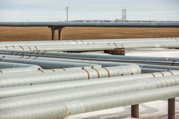 Pipelines at Prudhoe Bay on Alaska's North Slope on Friday, May 22, 2015. (Loren Holmes / Alaska Dispatch News)