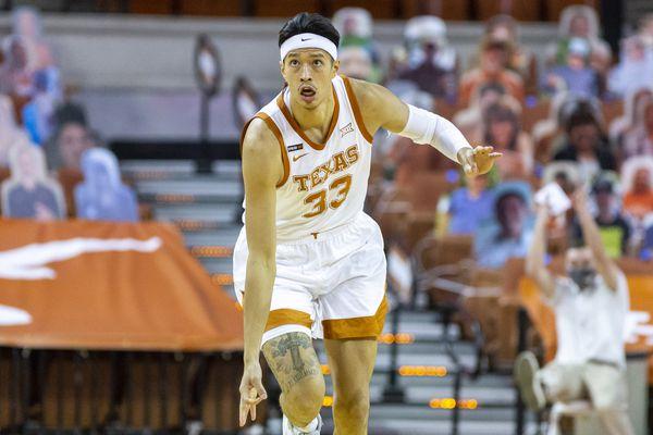 Kamaka Hepa plays with University of Texas against Kansas State, Saturday, Jan. 16, 2021. (Stephen Spillman / Courtesy University of Texas Athletics)