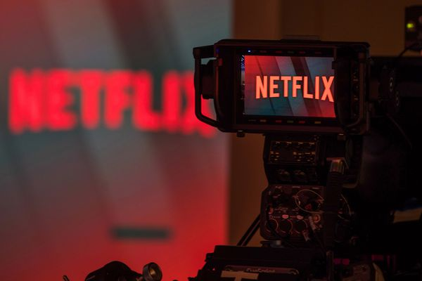 On Monday Netflix reported that in the previous three months it added just five million global subscribers instead of the six million that forecasters expected. The news immediately prompted an afterhours selloff, causing the stock's share price to drop more than 13 percent. MUST CREDIT: Bloomberg photo by Chris Ratcliffe
