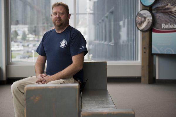 Brett Long is husbandry director for the Alaska SeaLife Center. (Marc Lester / Alaska Dispatch News)