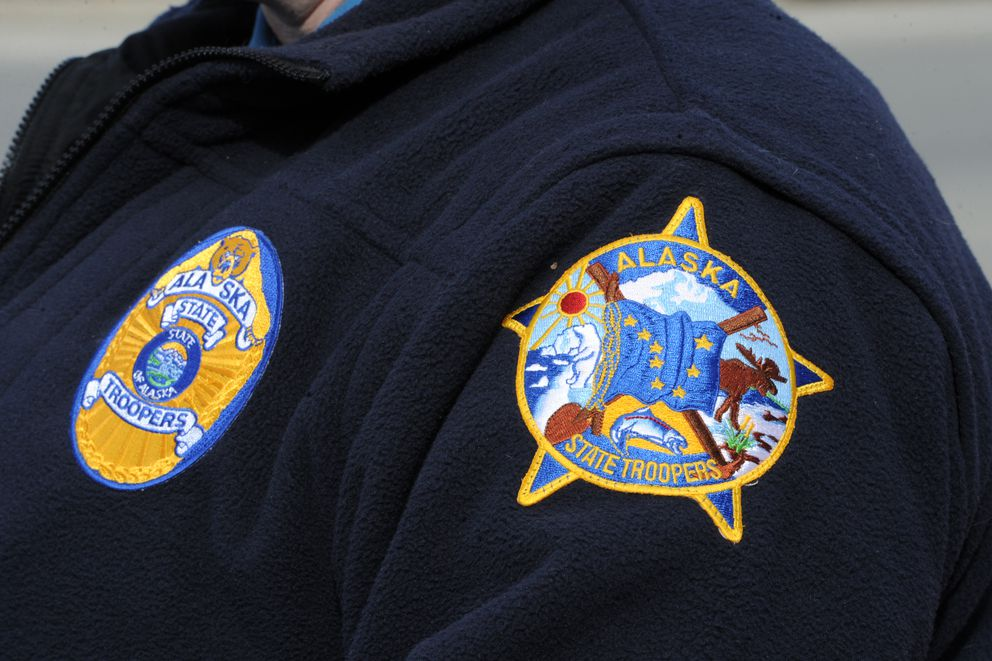 Alaska State Troopers on Monday, April 8, 2019. (Bill Roth / ADN)