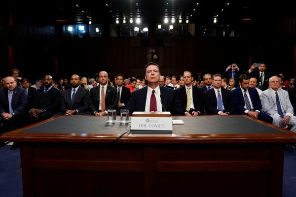 FILE PHOTO: Former FBI Director James Comey testifies before a Senate  Intelligence Committee hearing on