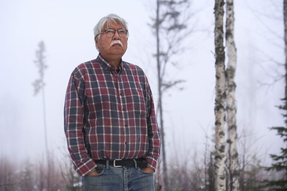 Leonard Savage at his home in Wasilla on Oct. 27, 2020. (Emily Mesner / ADN)