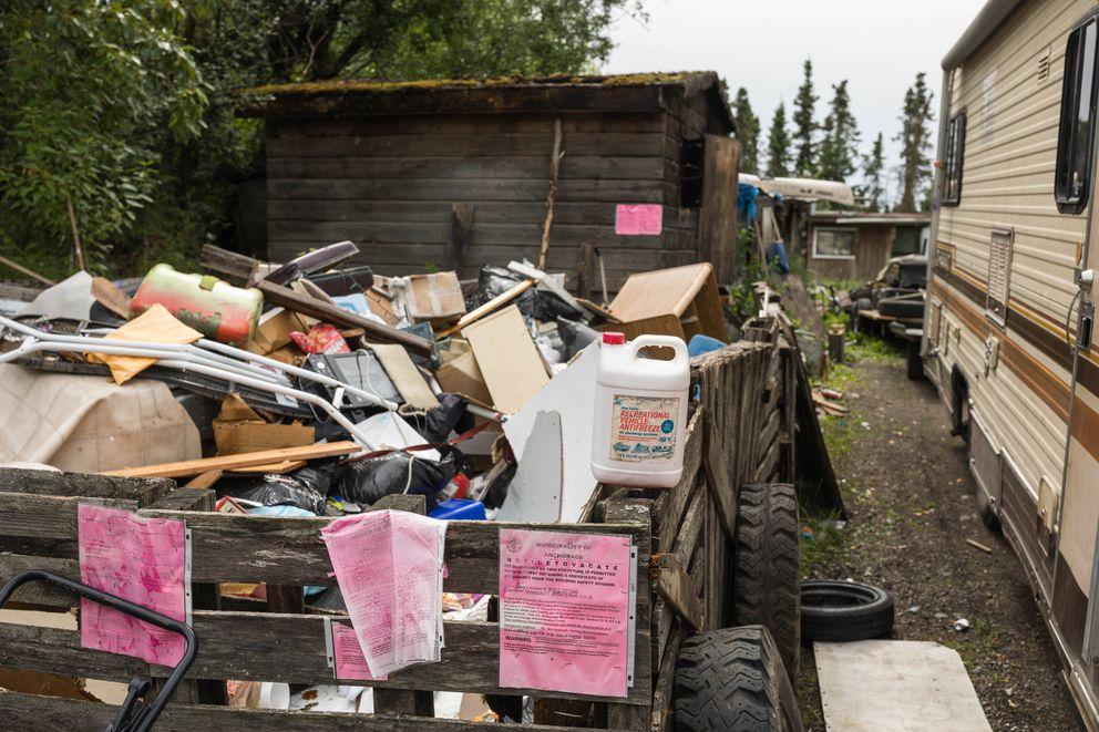 A nuisance property in Abbott Loop. (Loren Holmes / ADN)