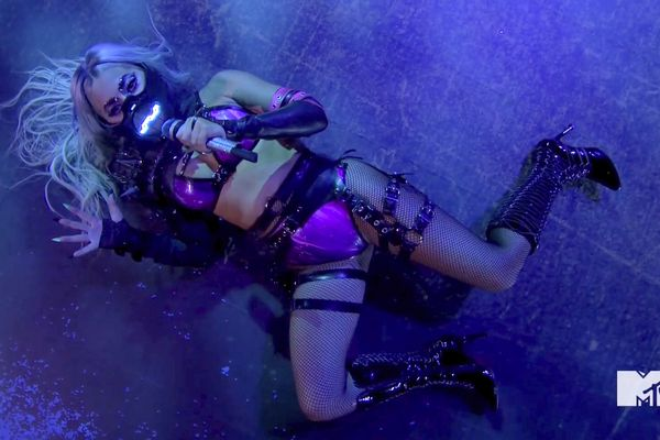 In this video grab issued Sunday, Aug. 30, 2020, by MTV, Lady Gaga performs during the MTV Video Music Awards. (MTV via AP)