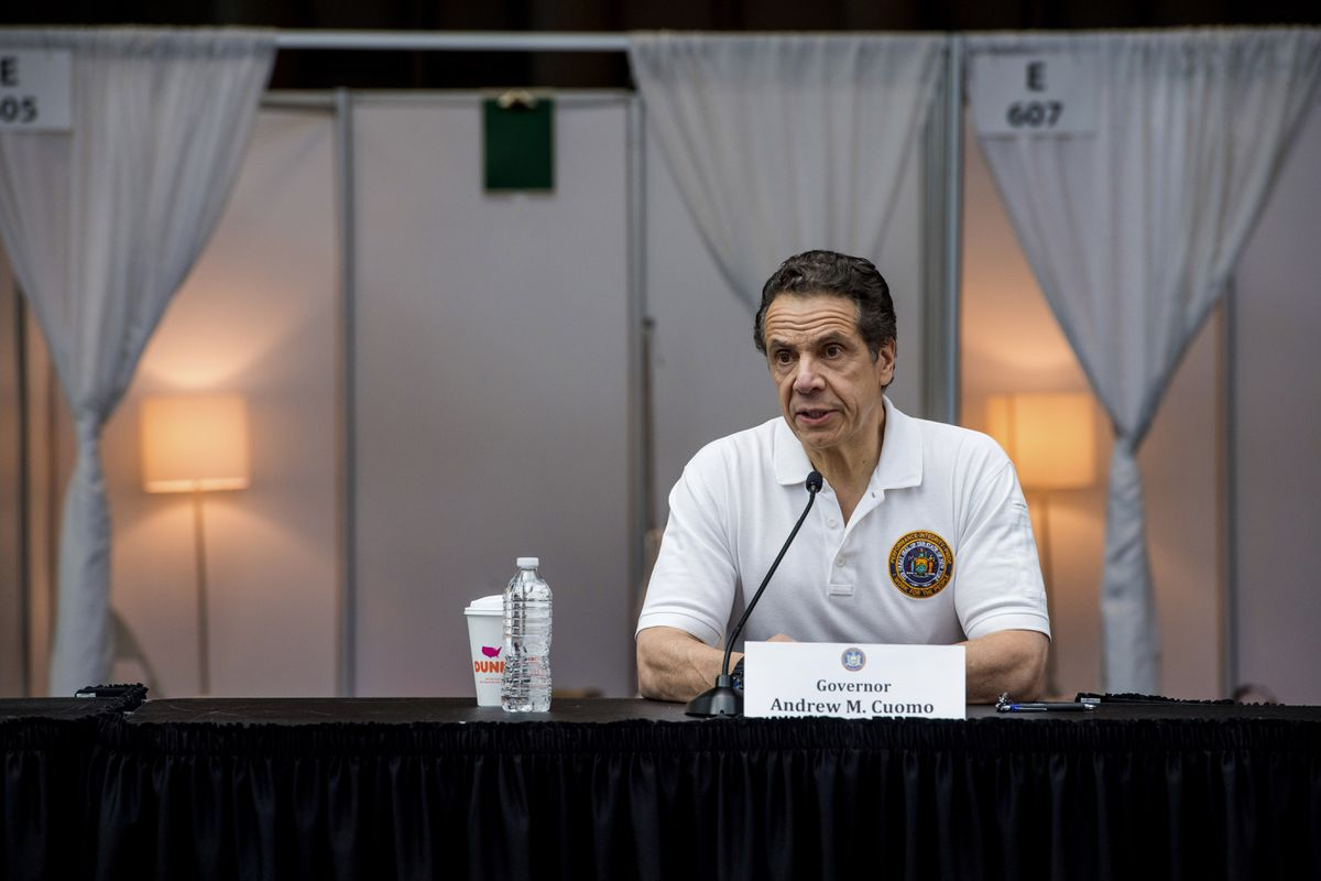 """New York Gov. Andrew M. Cuomo said Monday his state may already be experiencing a """"flattening of the curve"""" in the coronavirus pandemic.(Darren McGee/Office of Governor Andrew M. Cuomo via AP)"""