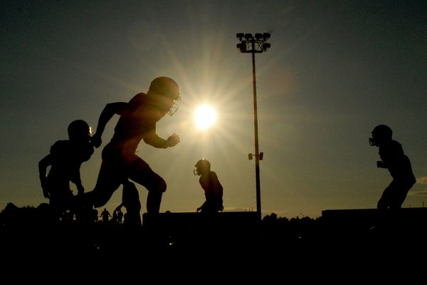 The Dimond High Lynx football team defeated the West High Eagles 26-13 at Anchorage Football Stadium on Friday, August 22, 2014.