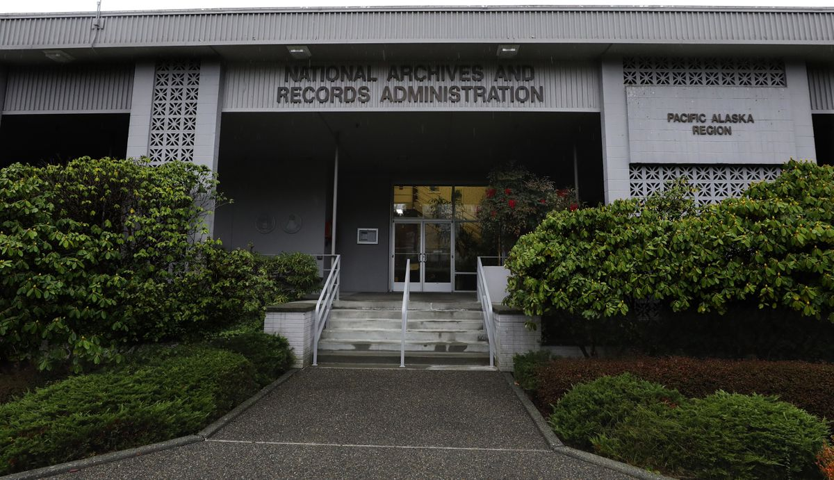 The National Archives in Sand Point, Wash., that has about a million boxes of generally unique, original source documents and public records. (Alan Berner/The Seattle Times via AP)