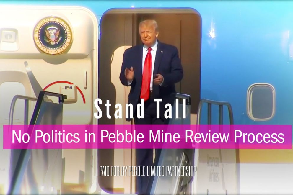 A screenshot of a Pebble Mine ad that played on Fox News Sept. 16, 2020.