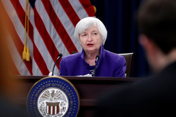 U.S. outgoing Federal Reserve Chair Janet Yellen holds a news conference after a two-day Federal Open Market Committee meeting in Washington, Dec. 13, 2017. REUTERS/Jonathan Ernst