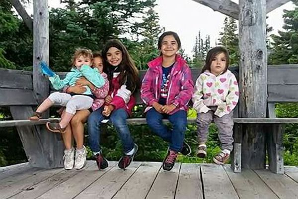 Jaelynn Flores 3, Lilyanna Flores 7, Nevaeh Flores 8, Alexis Quackenbush 12, Sofia Flores 6, were victims of a trailer fire in a Butte neighborhood, Sept. 7, 2017. (Photo courtesy of Armando Astorga)
