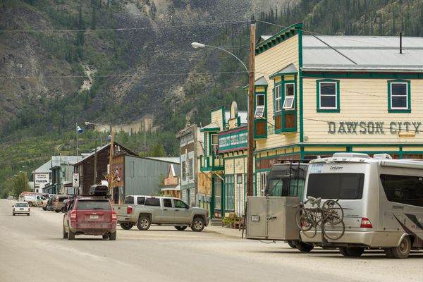 Downtown Dawson City, Yukon, photographed July 7, 2015. (Loren Holmes / ADN archive)