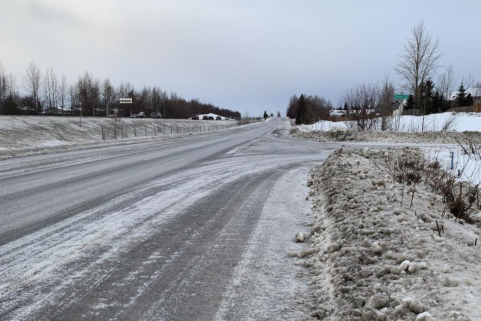 Brayton Drive, just south of Thuja Avenue, on Wednesday. Police say Kasey Turner was hit by a pickup near the intersection on Monday. (Tegan Hanlon / ADN)