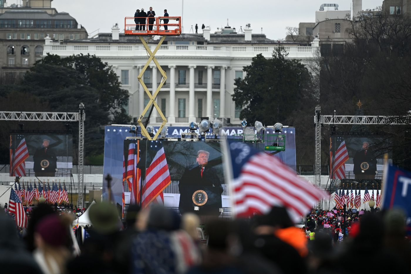 President Donald Trump speaks to supporters gathered at the White House on Jan. 6, 2021, in Washington, D.C. Washington Post photo by Matt McClain