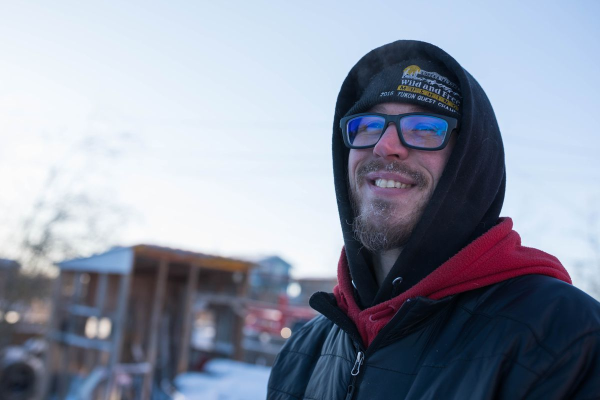 Musher Brent Sass of Eureka, seen here before the Kuskokwim 300 on Jan. 20, 2017, scratched from the Yukon Quest Sunday night. (Loren Holmes / Alaska Dispatch News)