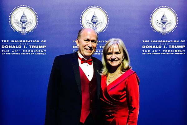Gov. Bill Walker and his wife Donna attend an inaugural ball for President Donald Trump on Friday, Jan. 20, 2017, in Washington, D.C. (Courtesy Governor's Office)