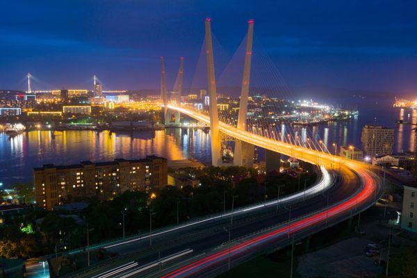 This undated stock image shows the Golden Bridge in Vladivostok, Russia. (Thinkstock)