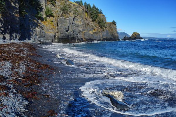 A beach in Fort Abercrombie State Historical Park. (Photo by Scott McMurren)