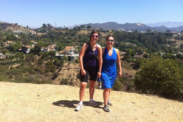 Alli Harvey (right) and a friend during a 2012 adventure at Runyon Canyon. (Photo provided by Alli Harvey)