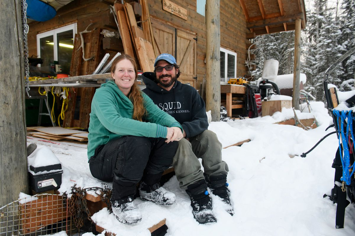 Squid Acres Kennel is operated by married distance mushers Paige Drobny and Cody Strathe in Ester. (Marc Lester / ADN)