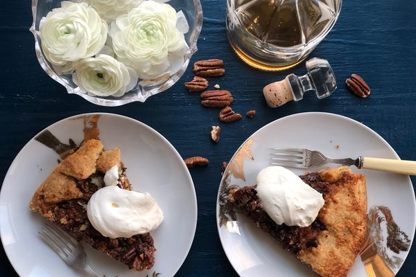 Bourbon chocolate pecan pie (Photo by Kim Sunée)