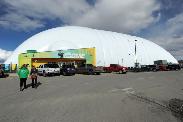 The Dome is a charitable, tax-exempt, 501(c)3 organization. The structure itself stretches 601 feet in length, is 290 feet wide, and stands 87.5 feet tall. April 10, 2015 (Erik Hill / ADN)