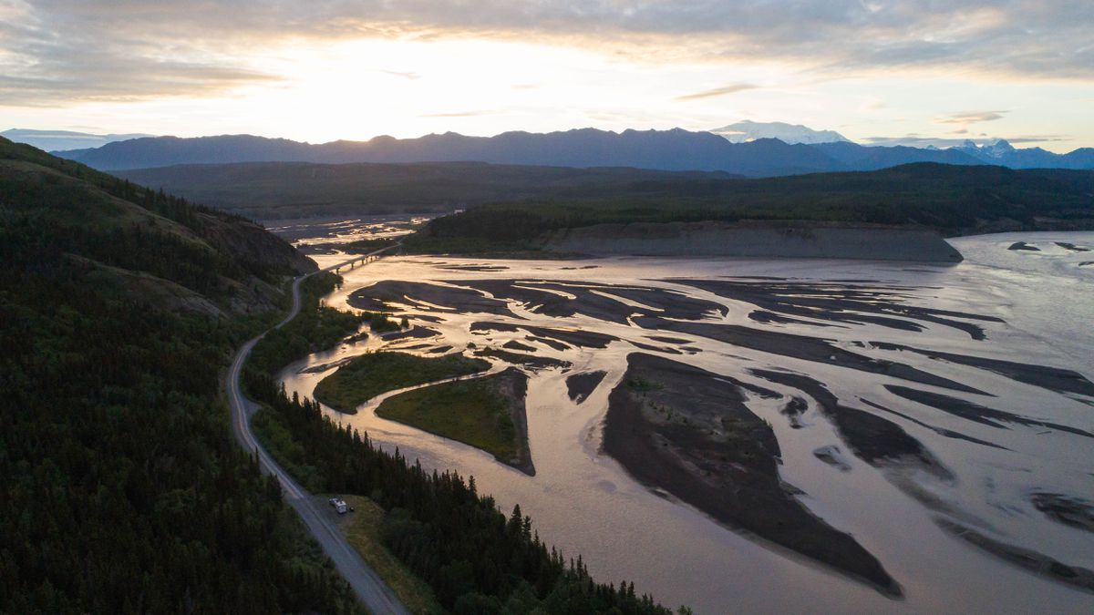 Sunrise on the Copper River where it meets the Chitina River. (Loren Holmes / ADN)