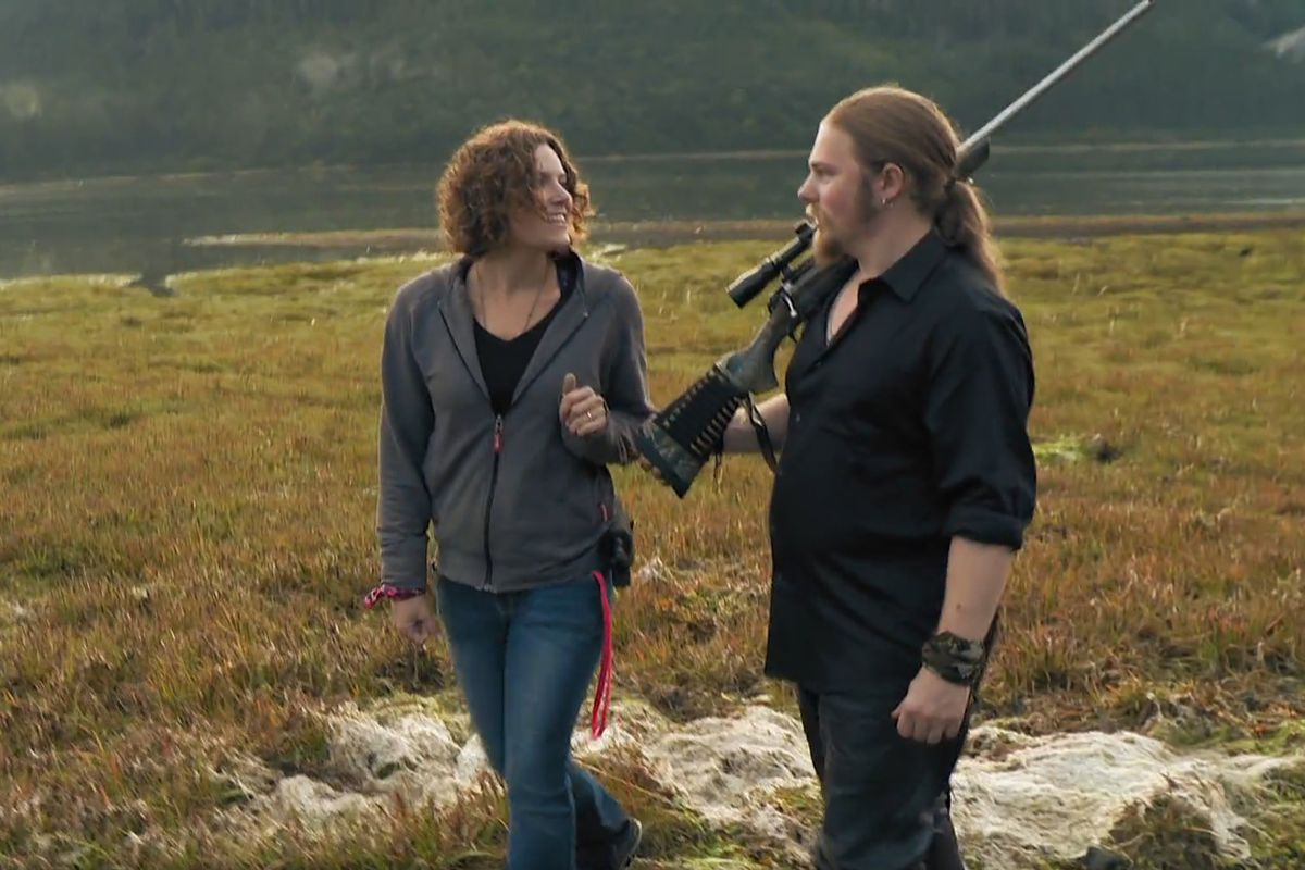 "Noah goes on a date in the Bush on ""Alaskan Bush People"" (Screen capture via Discovery.com)"