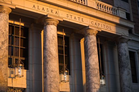 The Alaska State Capitol, photographed on Wednesday, Jan. 16, 2019. (Loren Holmes / ADN)