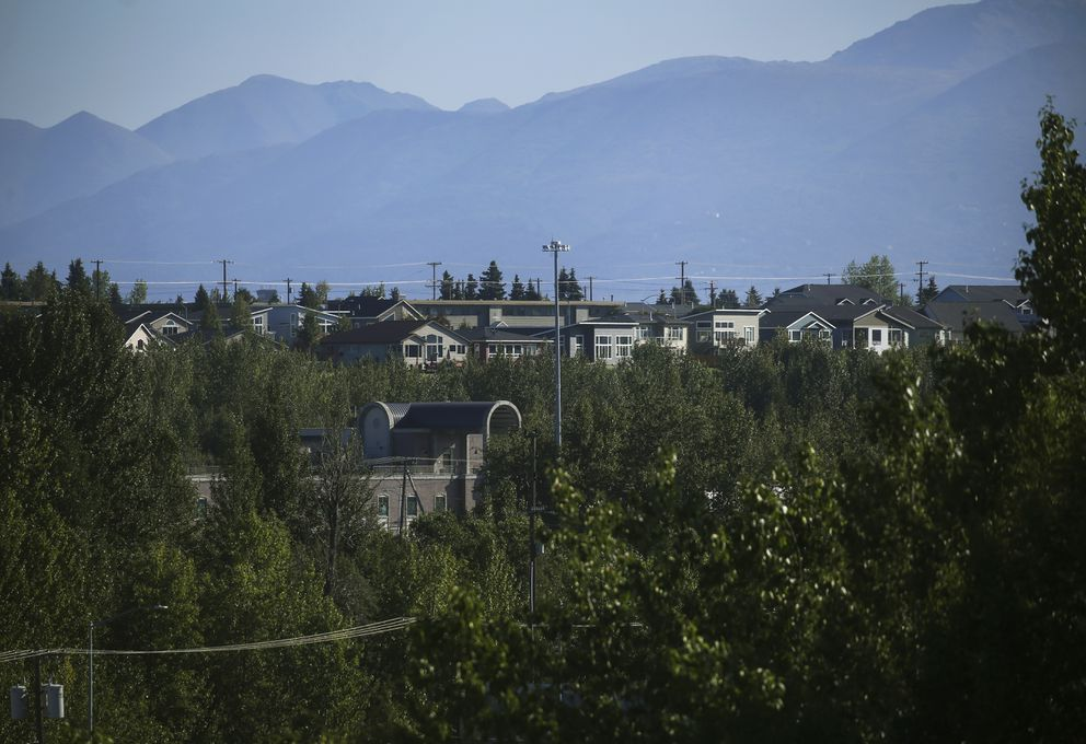 Houses in the Government Hill neighborhood in Anchorage on Aug. 21, 2020. (Emily Mesner / ADN)