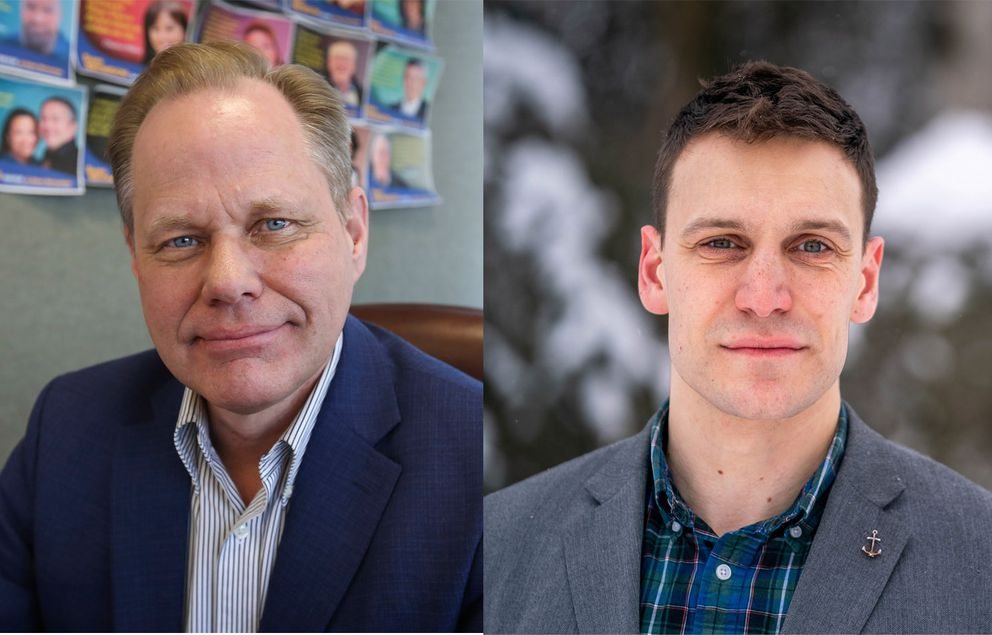 David Bronson and Forrest Dunbar have the most votes in the 2021 mayoral election. (ADN photos)