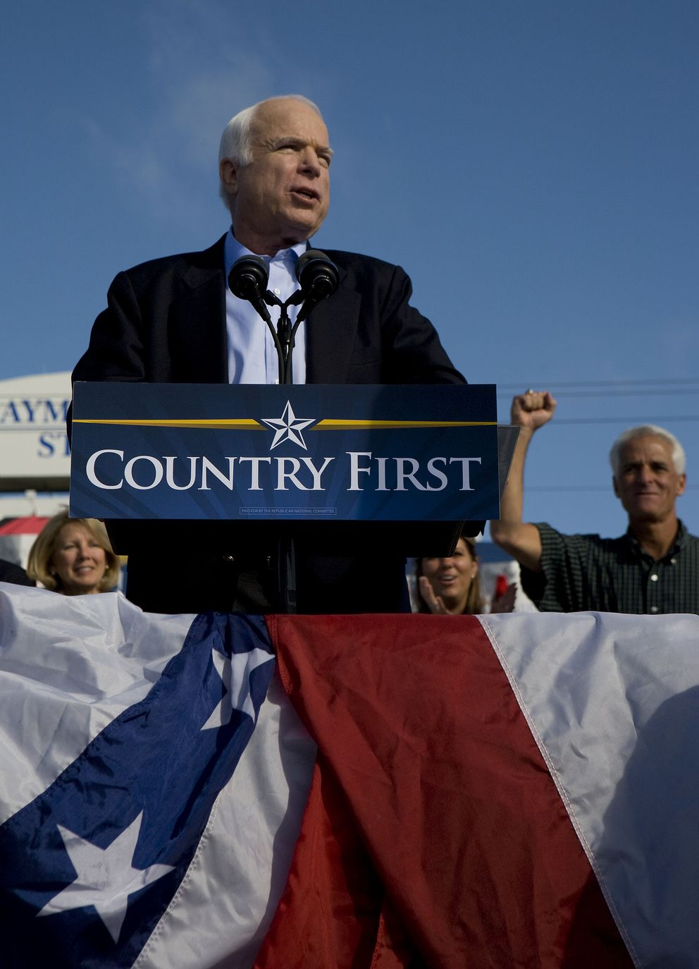 Sen. John McCain speaks at a campaign rally in Tampa, Fla., Nov. 3, 2008. (Stephen Crowley/The New York Times file)