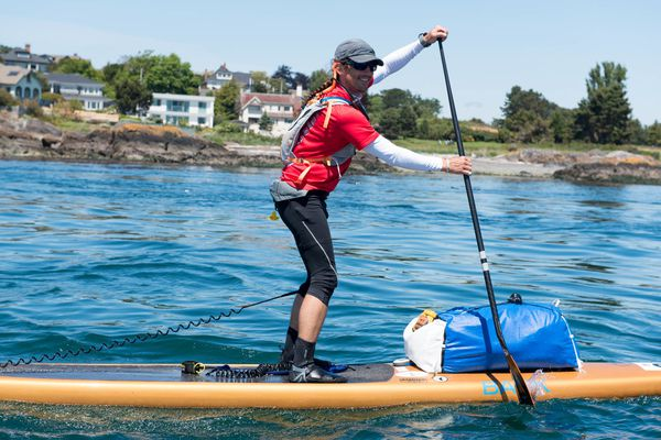 Karl Kruger paddled from Washington to Ketchikan in 14 days during the Race to Alaska. (Katrina Zöe Norbom)