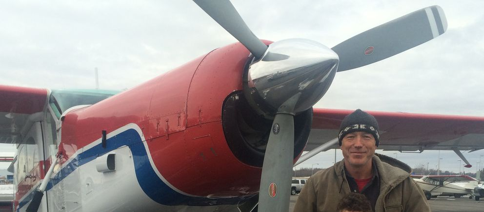 Alaskan bush pilot David McRae, 55, stands with the Pilatus Porter turboprop he was flying. The plane wreckage was located Thursday morning southwest of Merrill Pass at an elevation of 6,500 feet in Lake Clark National Park. Searchers have been looking for the missing pilot since he departed from Lake Hood en route to Port Alsworth last Friday. McRae's remains were recovered from the scene, transported and released to the state medical examiner. (Photo courtesy Jacques Smith)