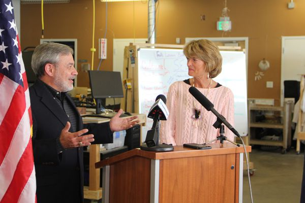 U.S. Department of Energy Secretary Dan Brouillette, seen with Sen. Lisa Murkowski this past September on a visit to the state as deputy secretary, discussed a proposed plan to