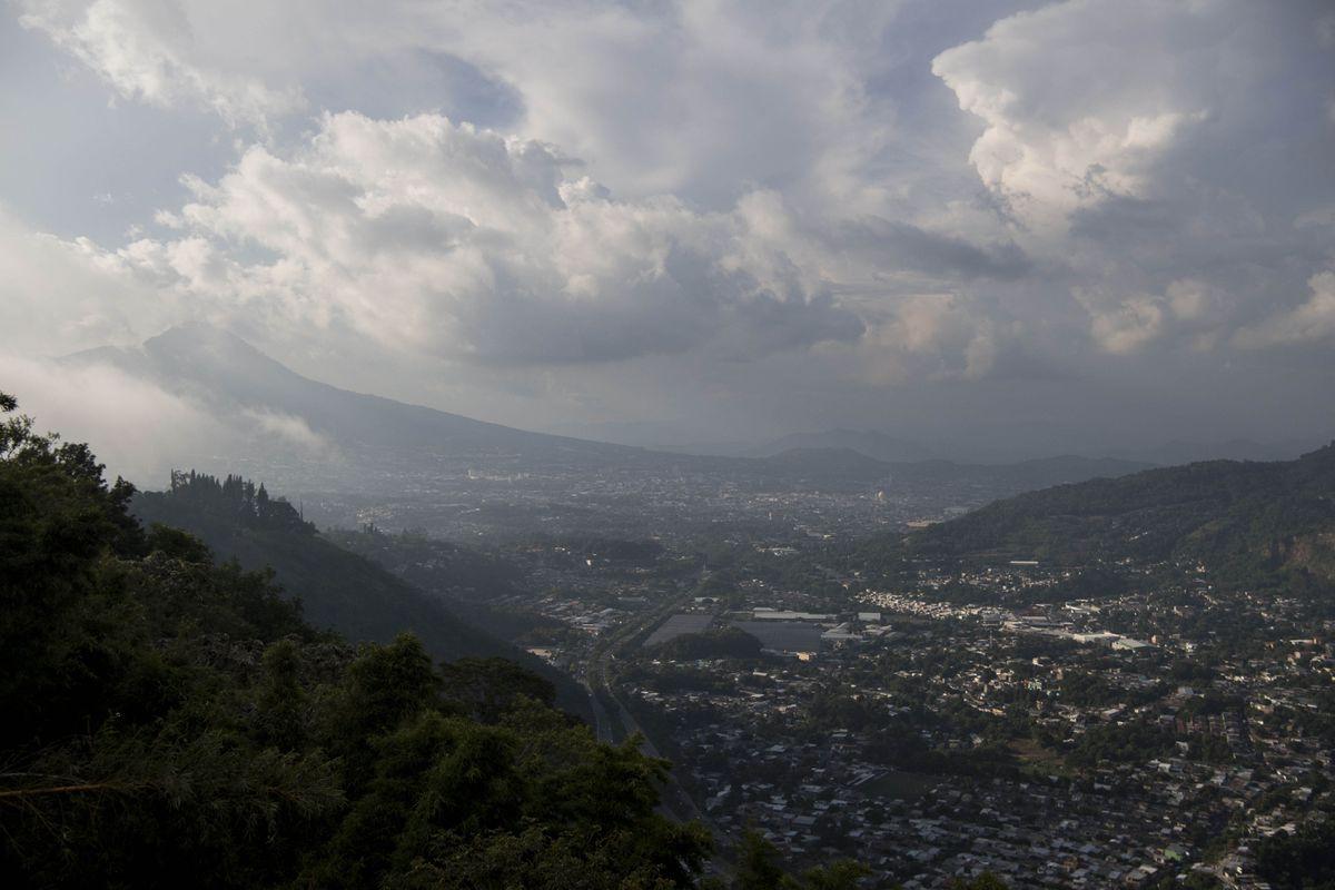 San Salvador, El Salvador is seen from a hill in September 2018. (Washington Post photo by Carolyn Van Houten)