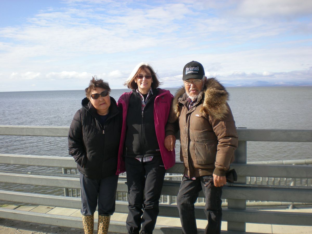 Lorena Williams, Beverly Churchill and Whittier Williams at the oceanfront in Kotzebue. (Courtesy of Beverly Churchill)
