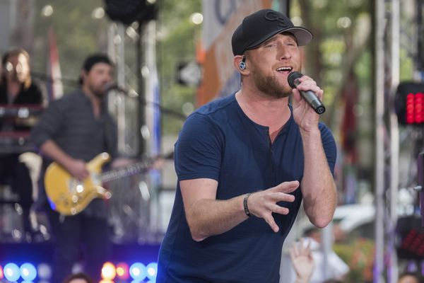 Cole Swindell performs on NBC's