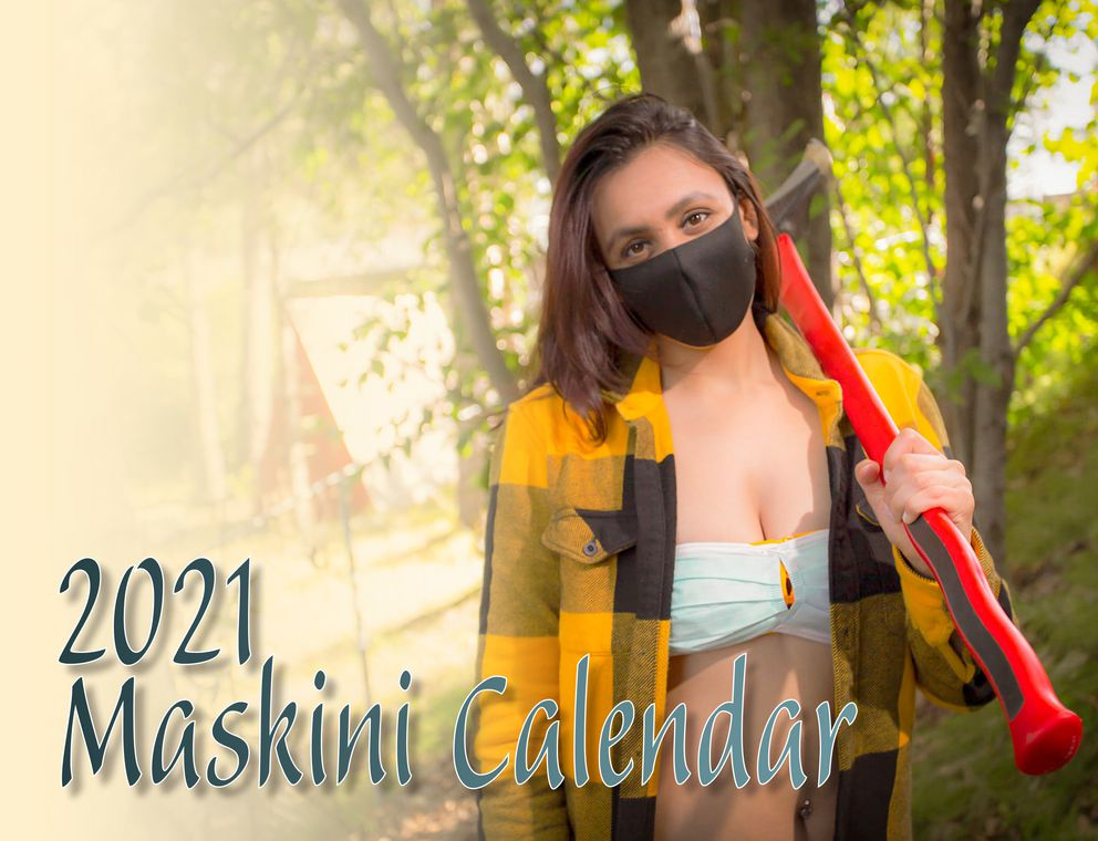 Aayushi Chheda is featured on the cover of the 2021 Maskini calendar, a creation by Kira Anderson. (Maskini calendar photo)
