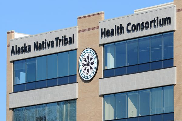The Alaska Native Tribal Health Consortium logo adorns its office building on Friday, September 8, 2017, on the Alaska Native Health Campus. (Erik Hill / Alaska Dispatch News)