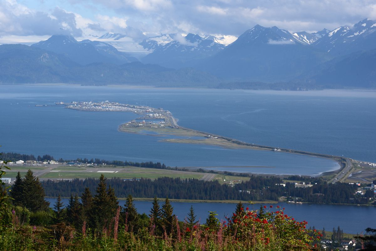 The Homer Spit stretches out into Kachemak Bay in August 2016. (Anne Raup / ADN archive)
