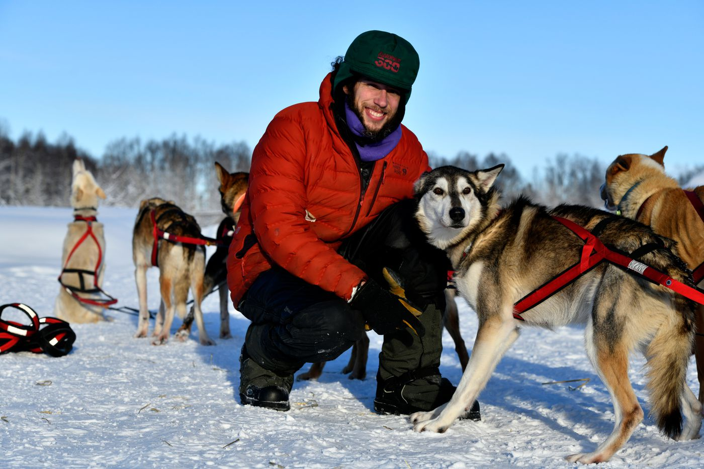 Musher Sean Underwood plans to run a team owned by Dallas Seavey in the 2021 Iditarod. It'll be Underwood's second attempt at the race. Photographed on January 29, 2021. (Marc Lester / ADN)