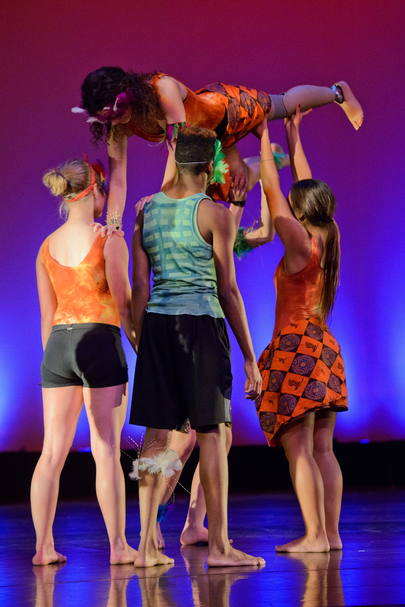 Taylor Haines is lifted by others in a Dance Contempo rehearsal on Tuesday, November 3, 2015. Haines has been involved with dance since age 8.